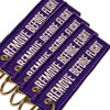 Remove Before Flight Keychain - Purple - 5pcs