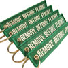 Remove Before Flight Keychain - Green - 5pcs
