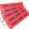 Remove Before Flight Keychain - Red/Black - 5pcs