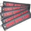 Remove Before Flight Keychain - Black/Red - 5pcs