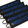 Remove Before Flight - Keychain - Black/Blue - 5pcs