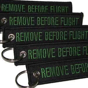 Keychain Remove Before Flight Rotary13B1 Black//Green 5pcs