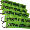 Remove Before Flight Keychain - Lime Green - 5pcs