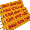Remove Before Flight Keychain - Yellow/Red - 5pcs