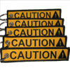 CAUTION Keychain - Yellow - 5pcs